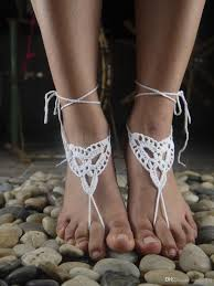 wedding barefoot sandals between crochet barefoot sandal crochet shoes sandal wedding