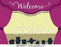 Stage With Curtains Drawing Theatre Stage Clipart Drawing Gg57885477 Gograph
