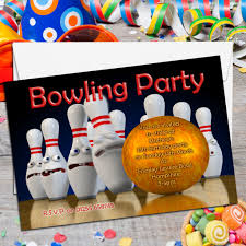 14th birthday party invitations 10 personalised tenpin bowling birthday party invitations n2