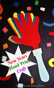 new year u0027s hand print craft u2013 the pinterested parent