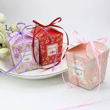 blossoms candy free shipping 50 x cherry blossoms candy box pink purple gift