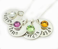 children s birthstone jewelry personalized birthstone necklace sted mothers gift kids