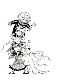 download nightmare christmas coloring pages omg halloween