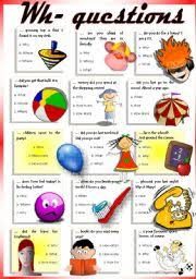 english worksheets question words worksheets page 5