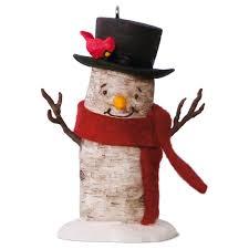 birch branch snowman ornament keepsake ornaments hallmark