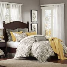 grey and yellow bedroom home decor for charming decoration traba