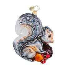 radko ornaments squirrel ornament storing up for winter