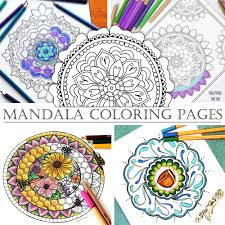 mandala coloring pages hattifant hattifant