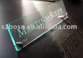 acrylic name plate perspex logo sign plexiglass desk sign buy