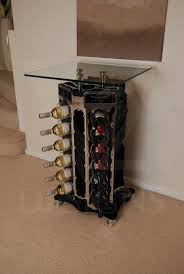 wine tables and racks engine block wine rack google search a little sunshine on a