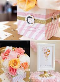 pink u0026 gold confetti bridal shower diy party decor gold