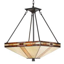 mission tiffany ceiling light springdale lighting tiffany mission collection 3light hanging