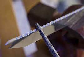 how to sharpen serrated kitchen knives how to sharpen a bread knife or any serrated knife with ease