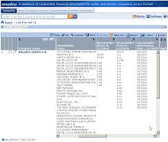 bureau amadeus financial databases and research