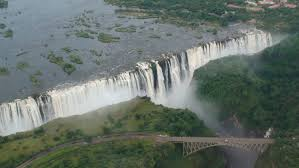 Victoria Falls Map Victoria Falls Helicopter Aerial View Zambia Zimbabwe Africa