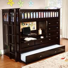 Black Wooden Bunk Beds Amazing Black Wooden Low Profile Bunk Beds With Drawers