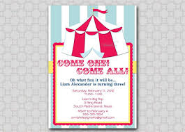 circus birthday invitation carnival invite first birthday