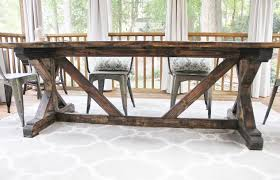 outdoor dining room diy table the soulful house