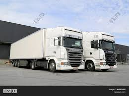 scania truck white scania trucks warehouse image u0026 photo bigstock