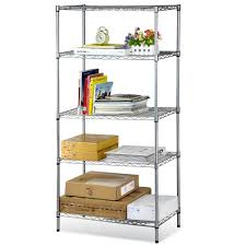 steel storage shelves popamazing multi purpose 4 5 tier shelf storage wire steel