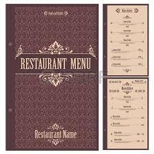 elegant restaurant menu design with beauty pattern vector