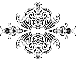 calligraphy clipart ornament pencil and in color calligraphy