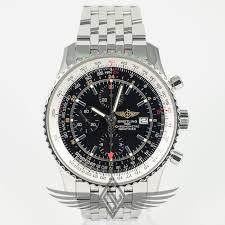 breitling steel bracelet images Breitling navitimer world gmt 46mm black dial stainless steel jpg