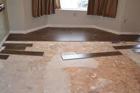 installing laminate flooring concrete floor and decorations