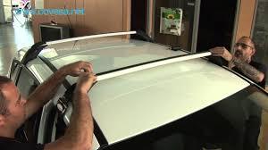 instalación de las barras de techo ford youtube