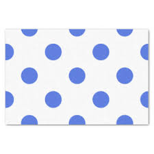 royal blue tissue paper blue polka dot craft tissue paper zazzle