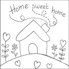 home sweet home coloring pages coloring page