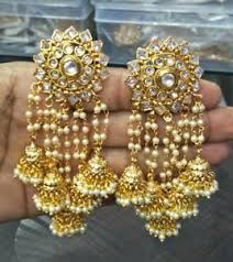 new jhumka earrings new indian gold plated jhumka earrings ethnic fashion