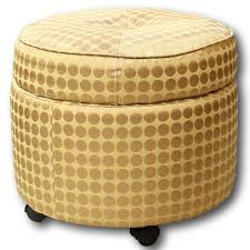 Gold Ottoman Gold Storage Ottoman Upscale Consignment