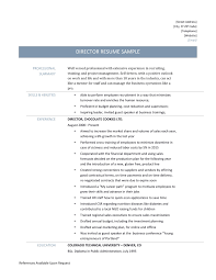 sample of driver resume driver resume samples and tips director resume page 001