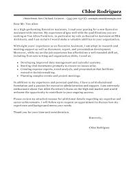 Personal Interest Examples For Resume by Best Executive Assistant Cover Letter Examples Livecareer