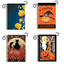 halloween yard flags halloween garden flags page three halloween wikii toland home