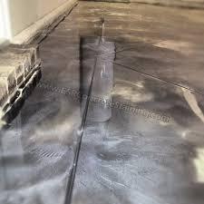 metallic garage floor
