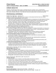 Resume Sample For Store Manager by Customer Service Resume Free Customer Service Resume Templates