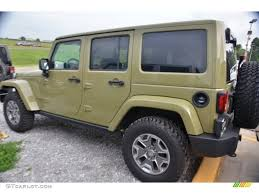 green jeep rubicon commando green 2013 jeep wrangler unlimited rubicon 4x4 exterior