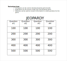 13 microsoft word jeopardy templates download free u0026 premium