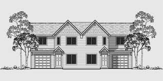 Narrow Lot House Plans With Rear Garage Duplex House Plans For Small And Narrow Lots 3 Berooms 2 5 Baths