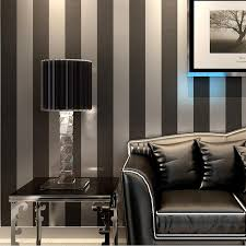 wholesale modern black wallpaper vertical striped purple and