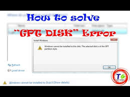 cannot format gpt drive fix error of selected disk is of gpt partition style in any windows