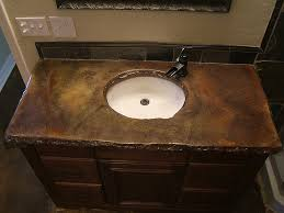 bathroom counter top ideas outstanding concrete bathroom countertops design ideas with brown