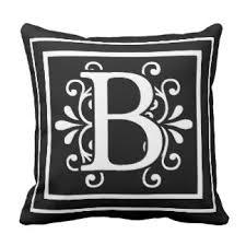 Monogram Letter B Monogram Letter B Cushions Monogram Letter B Scatter Cushions