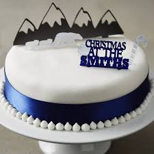 personalised arctic christmas cake topper set by sophia victoria