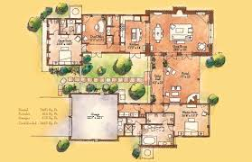 santa fe style house plans house plans with large front porch homepeek