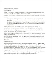 employee letter templates 7 free sample example format