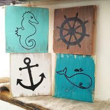 rustic nautical pallet board art ocean signs nautical
