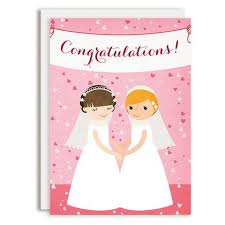 Congratulations Wedding Banner Wedding Greeting Cards By Rosy Designs